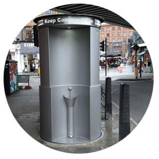 URI Lift Automatic Public Toilet Installation in Camden