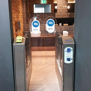 Contactless Toilet Pay Gates in the UK