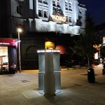 Public Toilet Installation outside KOKO Nightclub