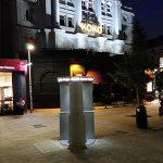 Public Toilet Installation outside KOKO Nightclub