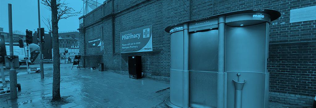Camden Town Public Male & Female Pop Up Toilet